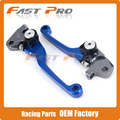 BLUE CNC Pivot Foldable Clutch Brake Lever For YAMAHA YZ125/250 YZ250F YZ426F/450F Motocross Enduro Supermoto
