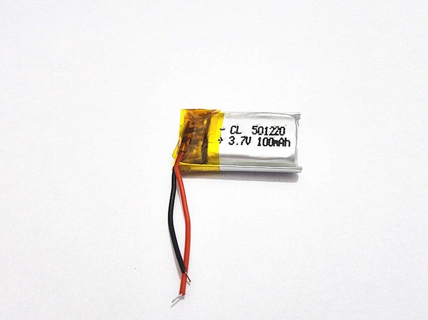 5pcs 3.7V 100mAh 501220 células Li-Po Bateria