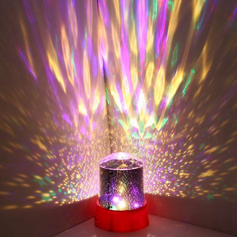 LED Night Light Lamp Battery Romantic Diamond Star Starry Sky Mood Projector Night Lamps For Bedroom DC4.5V iminovo night light with music starry sky led mini star projector lamps battery powered for lovers children creative gift