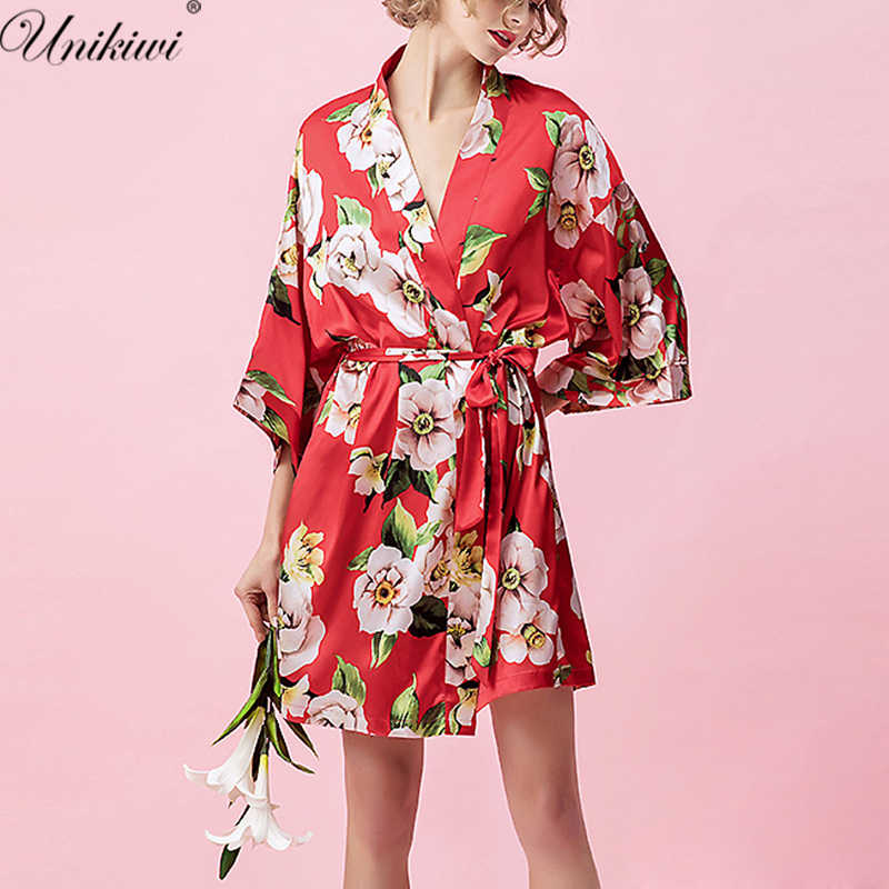 8cb5ea7324 Women Flowers Satin Wedding Kimono Robes.Floral Sleepwear Robe Pajamas  Bathrobe Nightgown
