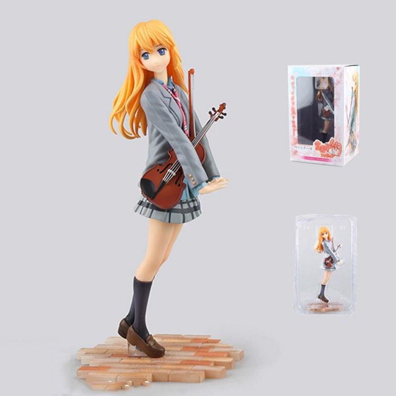 Figurine de violon Shigatsu wa Kimi no Uso Miyazono Kaori Figurine jouet 1/8 bande dessinée Amine cgc votre mensonge en avril Figurine d'anime 22 CM