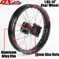1.85x14inch Dirt bike Rear Wheels Alloy Rim For KAYO BSE Apollo Xmotos CRF KLX TTR 50 110 125 140 160cc Pit Bike Spare Parts