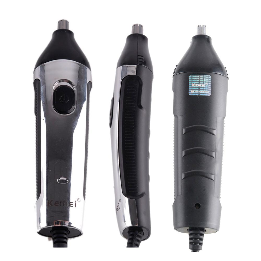 2 In 1 Nasal Hair Shaver Razor Nose Cleaner Kemei Electric Shaving Machine Head Removal Clipper Trimmer Men Haircut Device