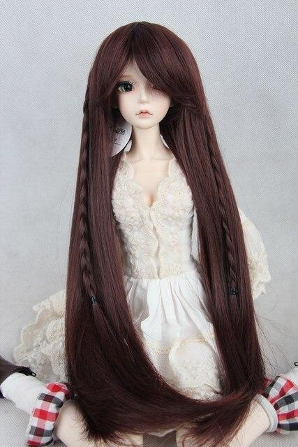 БЖД/SD кукла парик 1/3 1/4 1/6 bjd парик поворот плетение волос прямые волосы фабрики сразу