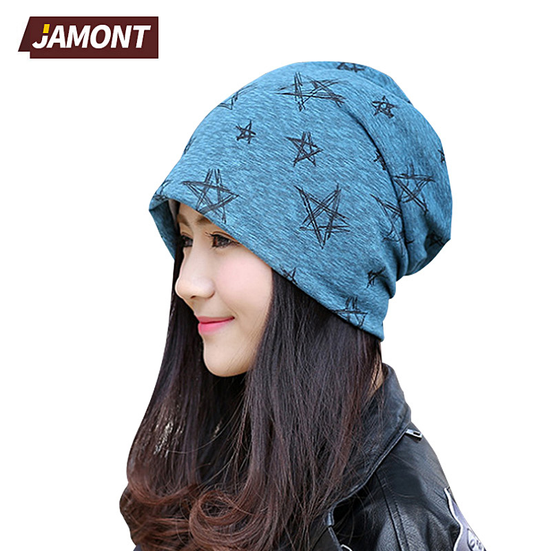 [JAMONT] Hip Hop Soft Stretch Slouchy Hat Skullies Wool Blend Women Beanies Q3356 [jamont] love skullies women bandanas hip hop slouch beanie hats soft stretch beanies q3353