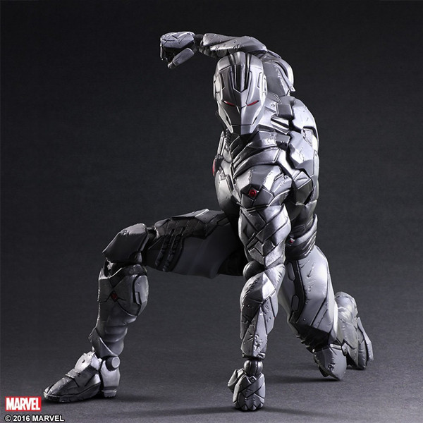 Play Arts KAI Iron Man Limited Grey Color PVC Action Figure Collectible Model Toy 26cm iron man action figure play arts kai the avengers grey ironman pvc toy 28cm anime movie model iron man playarts kai superhero