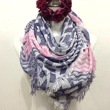 Fashion Cotton Tassel Scarf For Women Magic Tartan Plaid Blanket Infinity Silk Ring Scarves 115x110cm