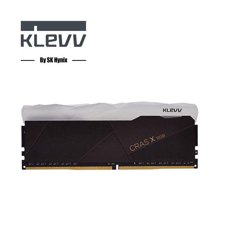 Klevv CRAS-X série RGB RAM 8 GB DDR4 3200 MHz 1.35 V RAM pour Ordinateur De Bureau Gaming haut vitesse haute performance