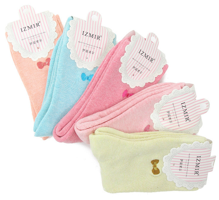 Towel upset the new 2016 embroidery bows Ms ice cream color matching socks in the towel mixed 5pair/lot Pregnant women cotton