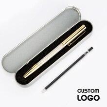 Fashion Crystal Pen Custom Logo Kawaii Signature Pen Gel Pens Creative Office Student Stationery Laser Engraving Logo Gift Box