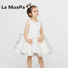 High end handmade girls Wedding Party Pageant Dress Baby First Communion Dresse Toddler Gowns Child party
