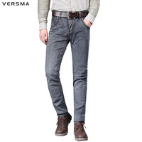 VERSMA Design Denim Biker Jeans Pants Straight Jogger Overalls Fashion Male Jeans Trousers Stretch Super Skinny