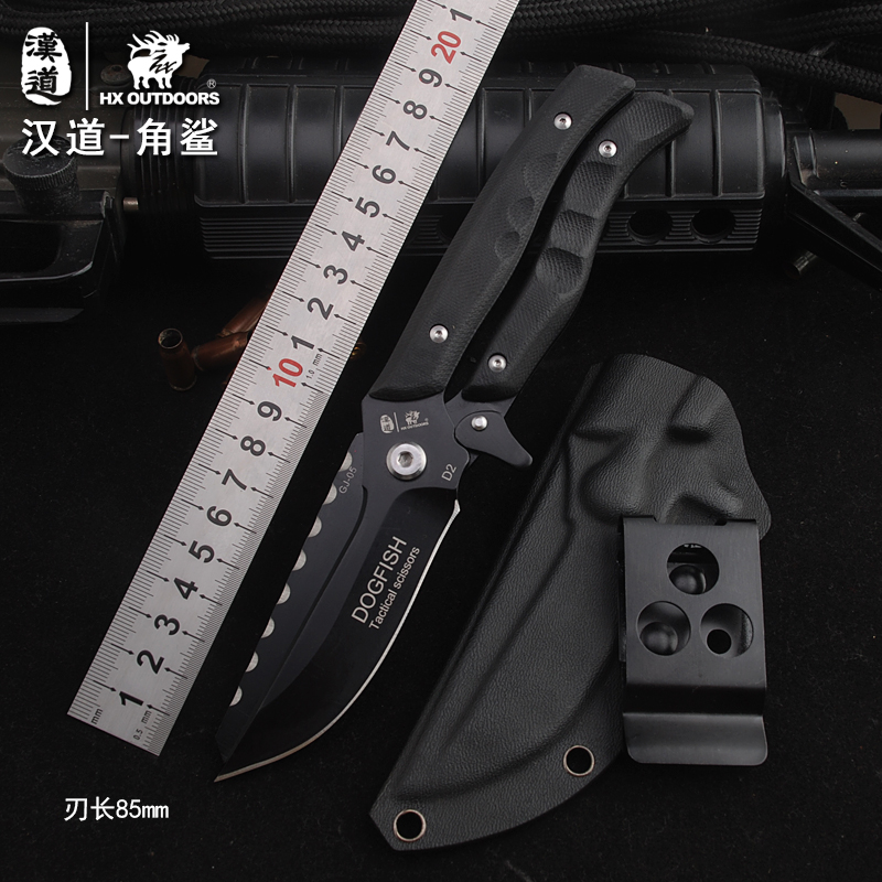 Outdoor Portable Tactical Army Survival Gear Knife Multi-function Knife Scissor Dual-Use Field Survival Saber mymei multi function 5 in 1 outdoor knife carabiner opener screwdriver tool camping climbing equipment survival tactical gear