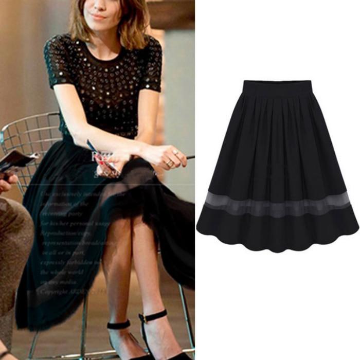 A Line Skirts Knee Length - Skirts