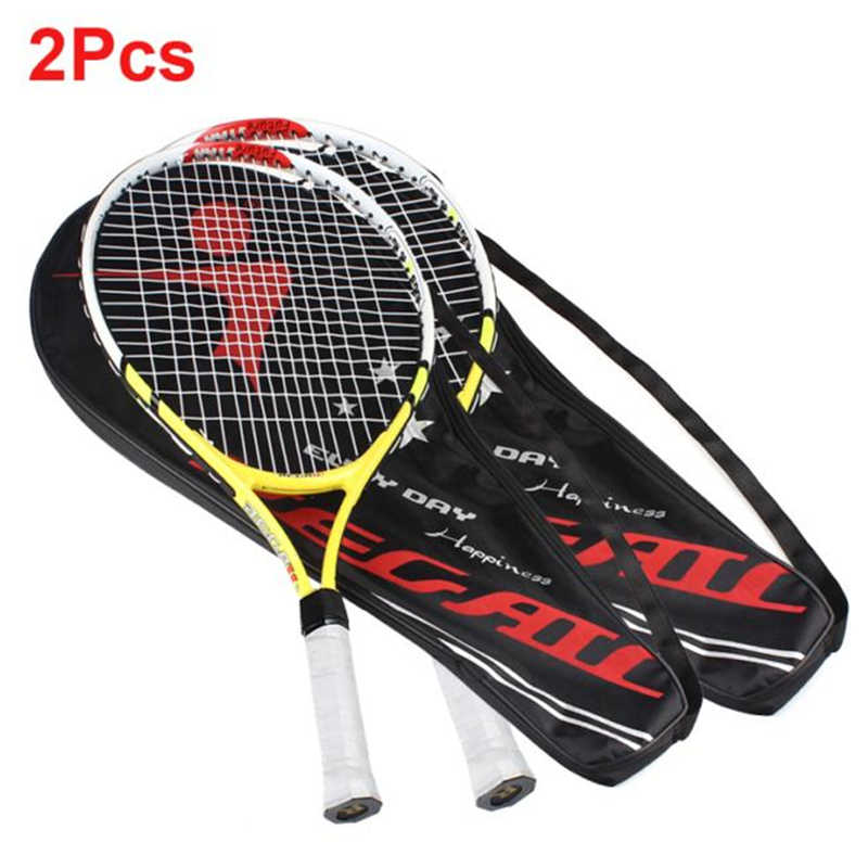 2 PCS 100% NEW High Quality Training Racket Junior Tennis Racquet for Kids Youth Childrens Tennis Rackets with Carry Bag Hot