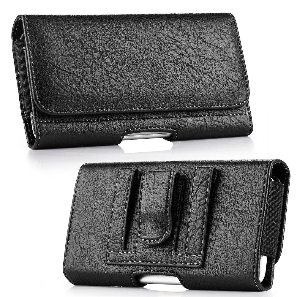 Universal Tasche Leder Fall 6,3/5,5/4,7 zoll Taille Tasche Magnetic Horizontal Telefon Abdeckung für iPhone X 8 7 telefon Gürtel Holster Clip