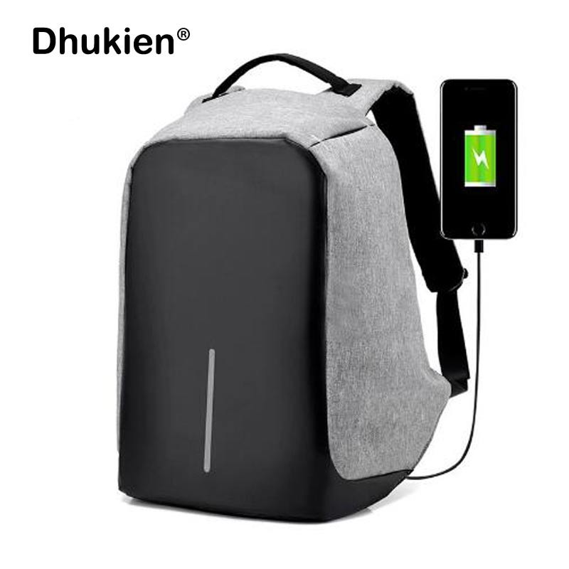 Anti Theft Backpack for Teenage Girls USB Charging Laptop Backpack for Men Male Female School Bags Mochila Masculine Sac A Dos 14 15 15 6 inch flax linen laptop notebook backpack bags case school backpack for travel shopping climbing men women