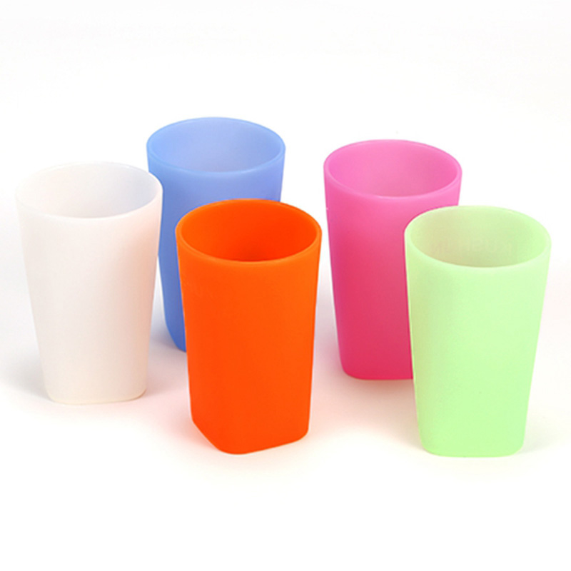 400ml Child Multi-color Drop Resistant Silicone Cup Outside Portable Wide-mouth Cup Drink Feeding Bottles Baby Training Cups