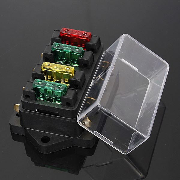 online buy whole automotive fuse box from automotive 12 24v fuse holder box 4 way car vehicle circuit automotive blade fuse box block