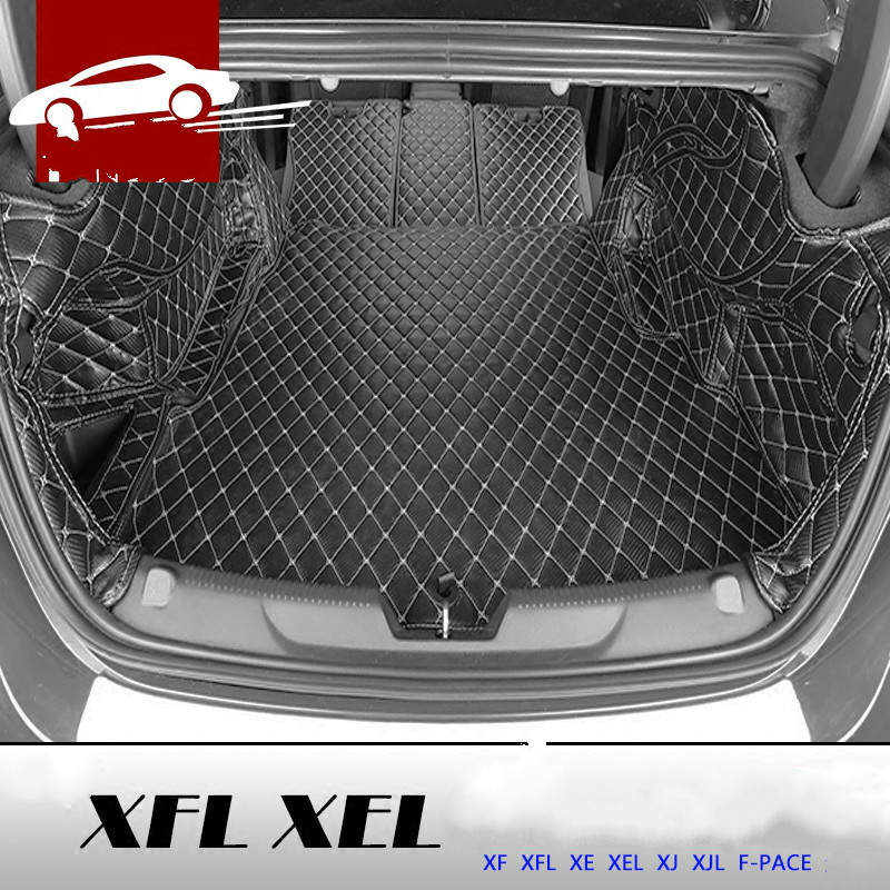 3D Full Covered Waterproof Boot Carpets Durable Custom Car Trunk Mats for 2012-2018 Year Jaguar XFL XEL XJL F-pace XF XJ защита от солнца для автомобиля guozhang 300c xjl xf
