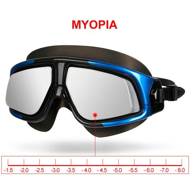 Copozz Espelhado Quadro Grande óculos de Miopia Óculos de Natação de  Silicone Óculos de Natação Impermeável ee74c510eb