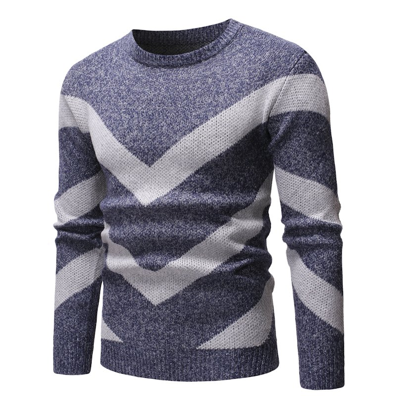 Autumn Winter Cashmere Sweater Men Pullover Fashion O-Neck Mens High Quality Casual Striped Male Sweaters  Knitted Pullovers