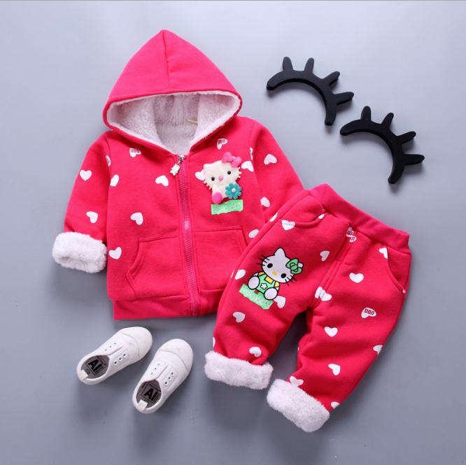 Children Clothing 2018 Autumn Winter Girls Clothes Hoodies+Pants Kids Clothes Girls Tracksuit Sport Suit For Girls Clothing Sets 2018 new girls clothes set summer baby girls clothes vest pants children suit for kids girls clothing suit