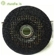 5 unids disco abrasivo de pulido pad para molienda de acero de metal de color negro pulido óxido remoción de pintura Diámetro 4/5/6/7 pulgadas PS012