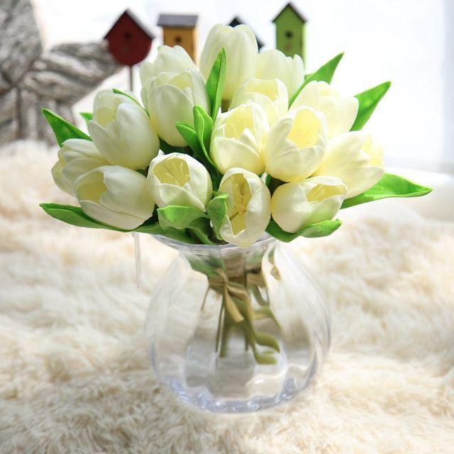 1 bunch vivid tulip high quality artificial flowers bouquet silk 1 bunch vivid tulip high quality artificial flowers bouquet silk flower simulation fake plant wedding decor mightylinksfo Gallery