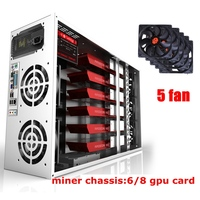mining rig case Frame GPU ATX chassis 4u 6/8 Graphics Card Ethereum miner Bitcoin horizontal computer server Video card chassis