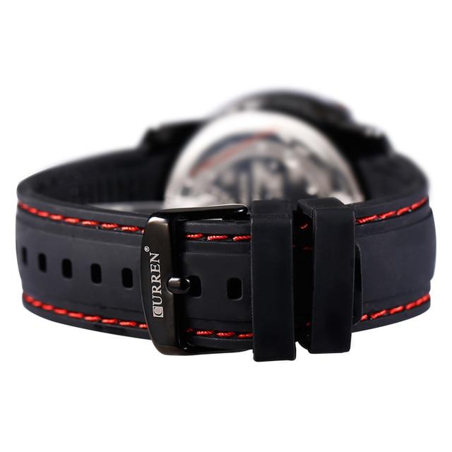 Curren Relojes Hombre left-hander Wrist watch quartz men luxury famous brand Quartz Clock Vogue men Wristwatch rubber new 2