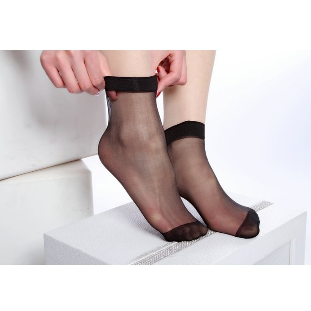 d1f233e7e 10 Pcs lot Women Socks Wholesale Solid Color Girl Transparent Thin Ankle  Socks Spring Summer Sock Meias 12 Colors Top Quality-in Socks from  Underwear ...