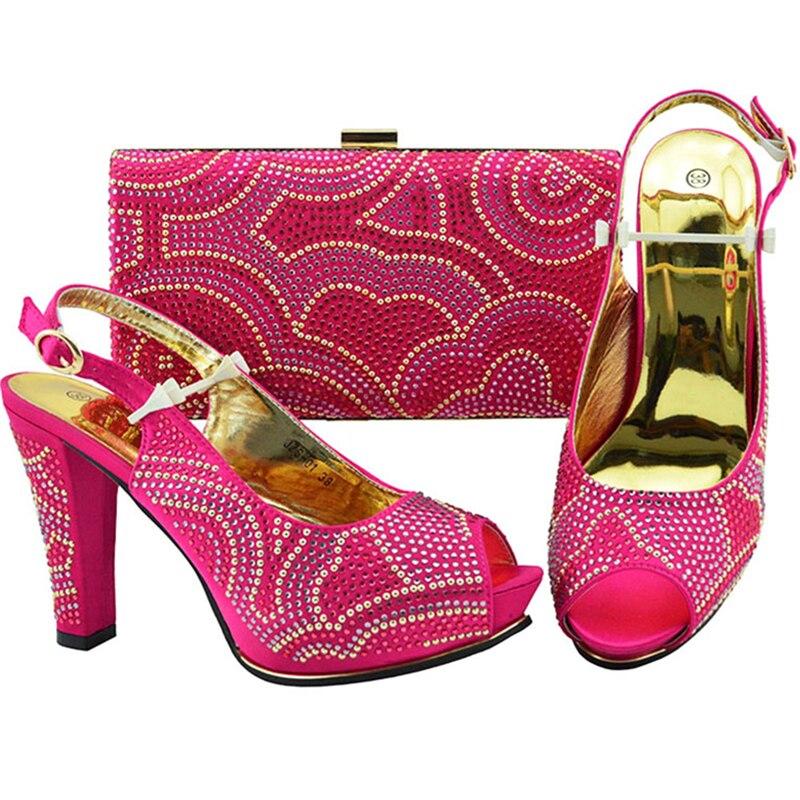 roayl Conjuntos Alta La fuchsia Para Sandalias Partido Negro amarillo Zapatos De Calidad Con Blue Bolsos Mujeres Italianos Y El A Bolsa púrpura Lujo Juego wTqPfBnq