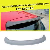 Car Styling Rear Roof Spoiler Lip Wing for Volkswagen VW Golf 5 V MK5 R32 GTI 2005 2009 FRP Unpaited Gray Primer