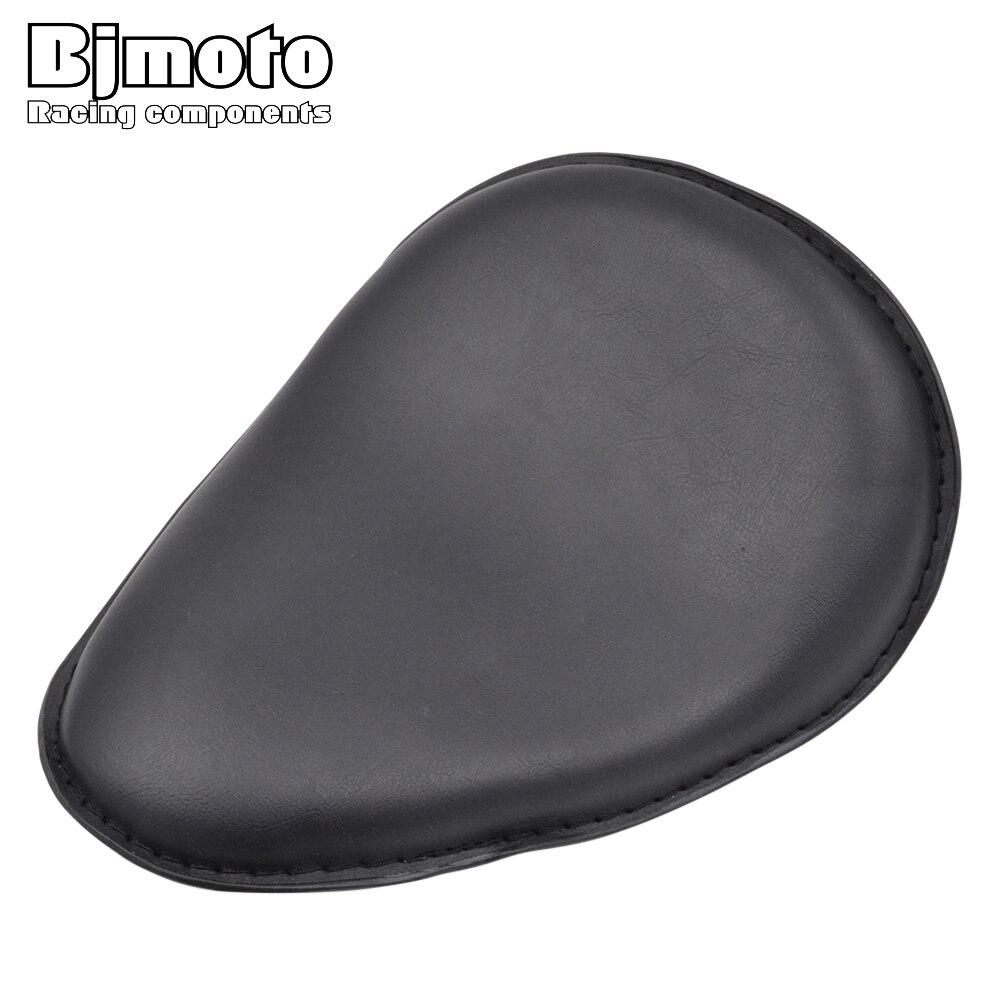 Bjmoto For Harley Davidson Sportster Bobber Chopper Moto Motorcycle Black Leather Slim Seat Large Copper Solo Seat Mount