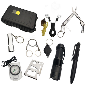 10 in 1 survival kit Set Outdoor EDC Camping equipment Travel Multifunction First aid SOS Emergency Supplies Tactical+slingshot 6