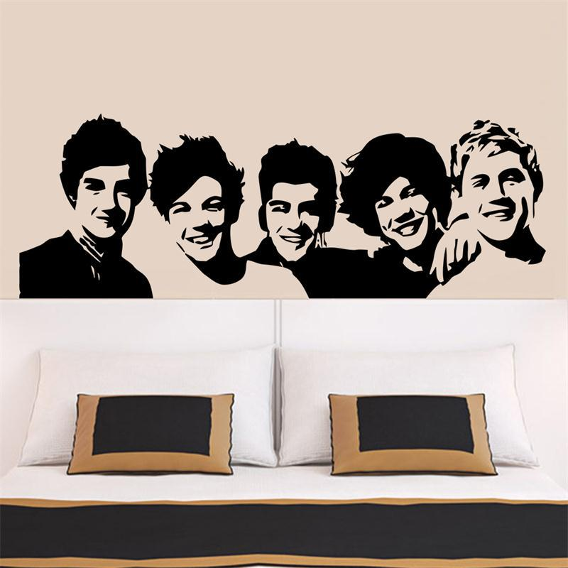 One Direct Famous American Music Band Stars home decal wall sticker  creative gifts for friends fans music party decor-in Wall Stickers from  Home u0026 Garden on ...