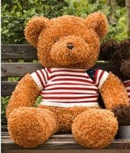 cute brown teddy bear toy US flag sweater teddy bear doll gift doll about 60cm