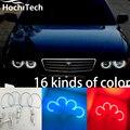 Para Toyota Chaser X100 1996 1997 1998 1999 2000 2001 RGB LEVOU anéis de halo anjo demônio olhos do farol com controle remoto controlador