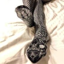 51779eee5bb8bb Novità 3D serpente Calze e Autoreggenti di Modo Delle Donne Per Il Tempo  Libero Sexy Calze