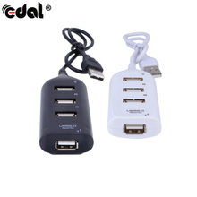 High Speed Micro Mini 4 Ports USB HUB 2.0 splitter Adapter USB Cable Converters fo rLaptop PC Notebook Receiver Computer