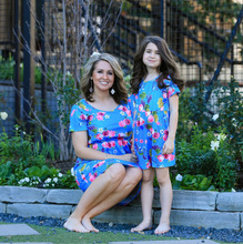 mom and daughter dress matching clothes baby girl boutique clothing floral dresses 2019 fashion print love new family look