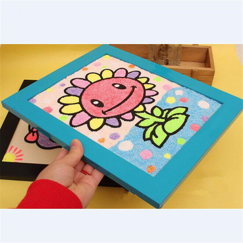 1 Piece 29*24cm Handmade Craft Colorful Snowflake Mud Painting Frame Learning Education Toys for Kids Gril Room Decorations