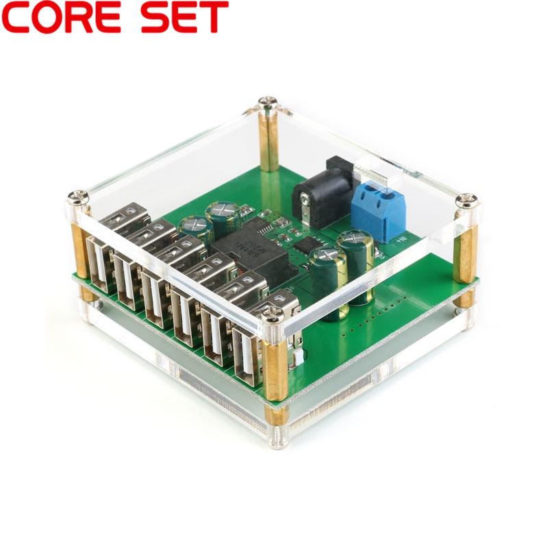 6USB DC-DC Buck Voltage Regulator Power Converter Module 10V 12V 24V 36V To 5V/8A 6USB Output6USB DC-DC Buck Voltage Regulator Power Converter Module 10V 12V 24V 36V To 5V/8A 6USB Output