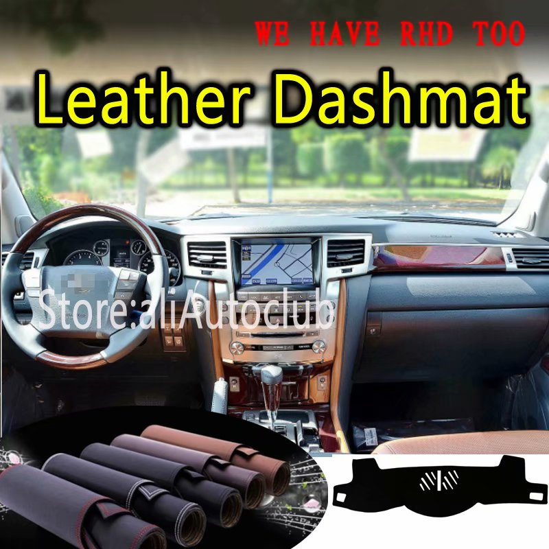 For Lexus LX570 LX 570 2008 2009 2013 2014  Leather Dashmat Dashboard Cover Dash Mat SunShade Carpet Custom Car Styling LHD+RHD