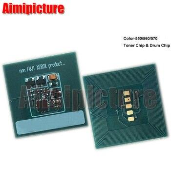 Z tonerem Chip do ksero 550 560 570 C550 C560 C570 006R01529 006R01532 006R01531 006R01530 układ resetu tonera 3 zestawy 12 sztuk/partia