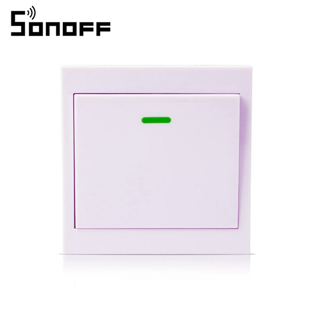 SONOFF Wireless Remote Transmitter 1 Channel Sticky RF TX Smart For Home Living Room Bedroom 433MHZ 86 Wall Panel for Smart Home