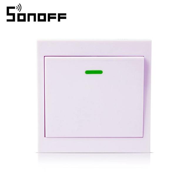 Transmisor remoto inalámbrico SONOFF 1 canal adhesivo RF TX inteligente para sala de estar de Casa dormitorio 433 MHZ 86 Panel de pared para casa inteligente