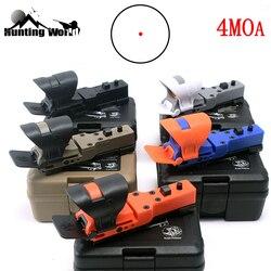Tactique réglable 4MOA point rouge vue réflexe CMORE optique vue semblant IPSC lunette de visée avec couvercle pour chasse airsoft shootin