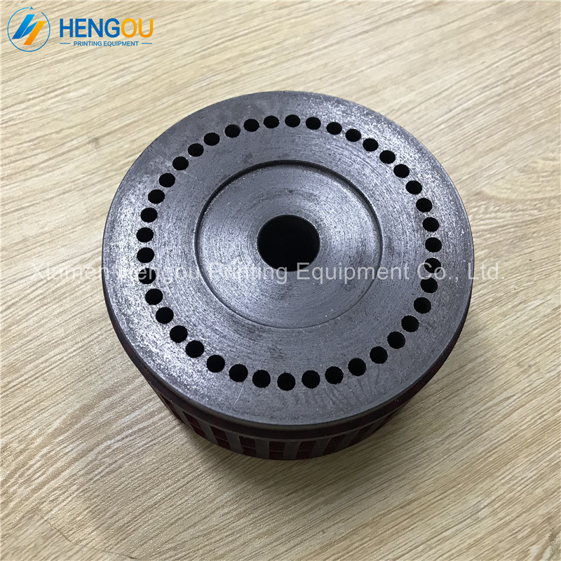 2 Pieces Delivery Metal Suction Wheels Parts for STAHL Folding Machine Parts MBO Suction Wheel Size 120x20x63mm suction wheel folding machine parts alto purple magna stahl folding machine suction wheel 124 18 70mm